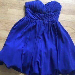 Deb Royal Blue Strapless Cocktail Dress 💎